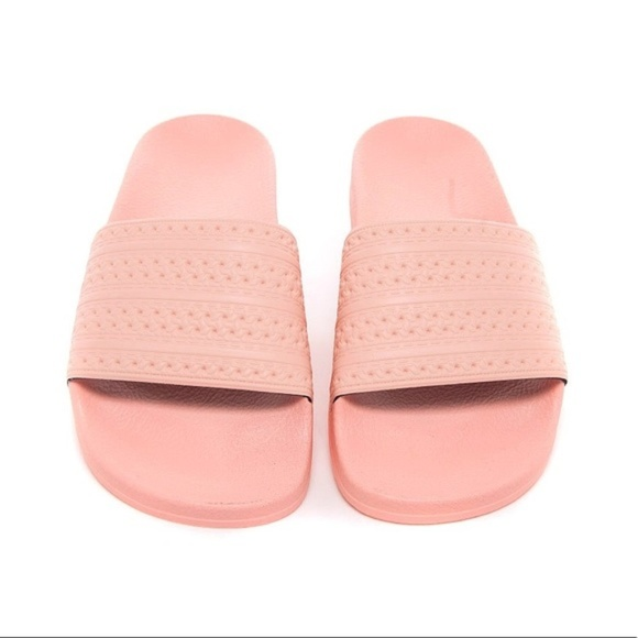 adidas shoes pink slides poshmark
